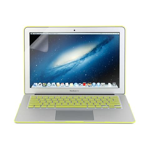 3 in 1 neon yellow macbook air 13 frosted keyboard