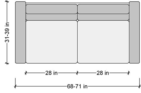 standard sofa dimensions in inches sofa dimensions