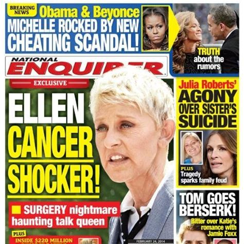 Gossip From National Enquirer by Degeneres National Enquirer The Gossip