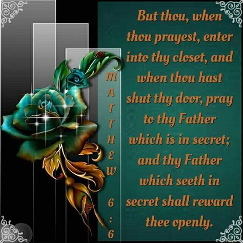 Secret Closet In The Bible by But Thou When Thou Prayest Enter Into Thy Closet And