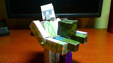 Papercraft Minecraft Iron Golem - how to make a minecraft papercraft bendable iron golem