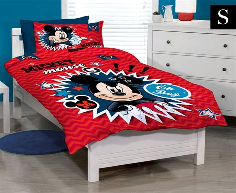 Bedcover Set Single No3 Motif Mickey Mouse disney mickey mouse clubhouse single bed quilt cover set