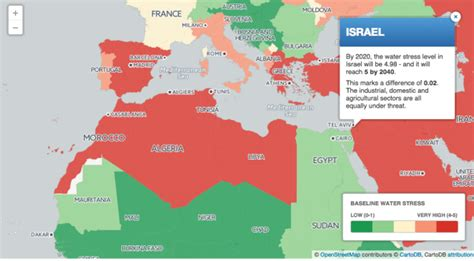 middle east map water middle east israel to be water scarce by 2040 report