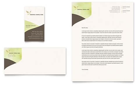 memorial funeral services letterhead templates word