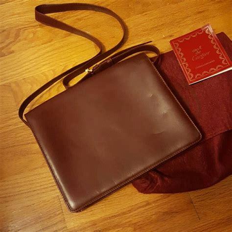 Cartier Paperbag M cartier auth cartier must de vintage bordeaux bag from s closet on poshmark