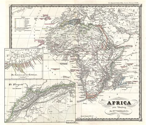 15 century map map of africa at the beginning of the 15th century