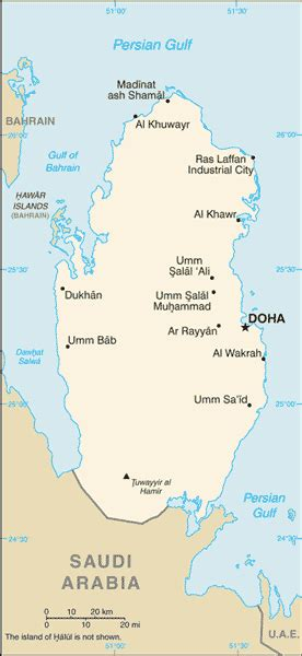 physical map of qatar qatar geography