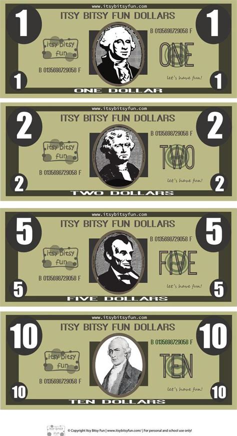 play money template download free premium templates