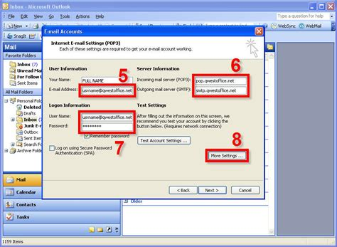 Office Qwest by Microsoft Office Outlook Setup For Existing Qwestoffice