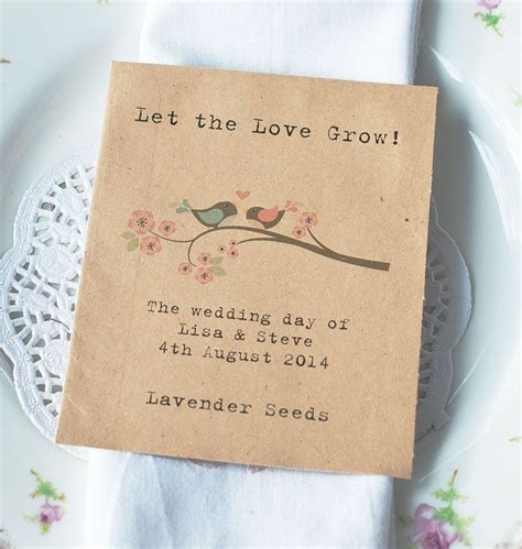 Wedding Favors Flower Seeds by Pretty Wildflower Seed Packet Wedding Favour With