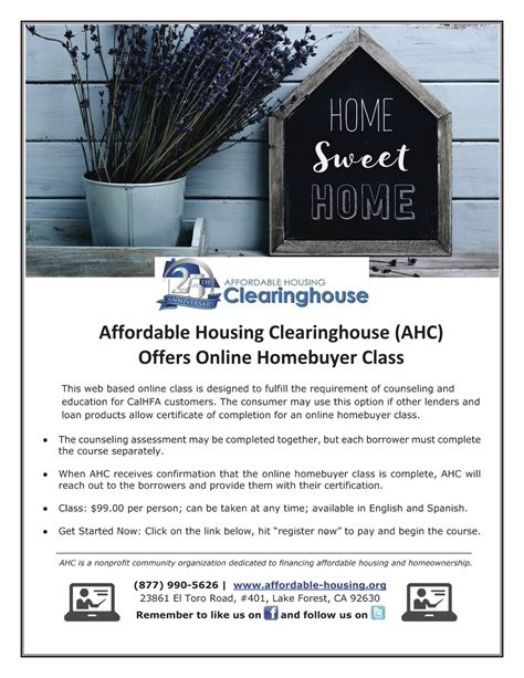 buying affordable housing homeownership education orange county ca affordable
