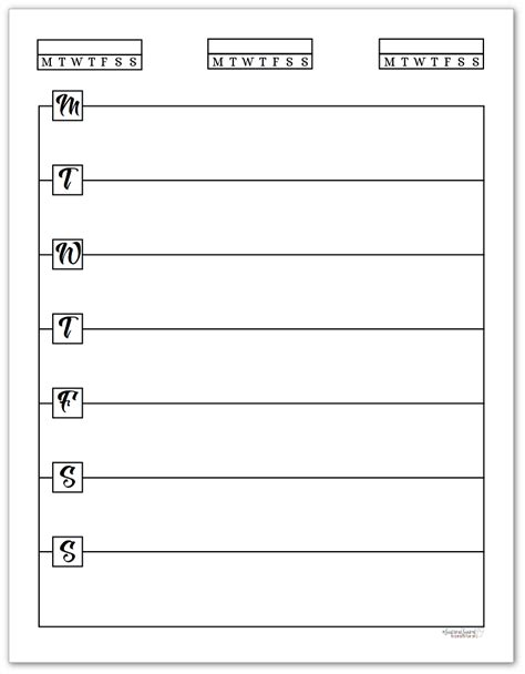 printable planner black and white free black and white weekly planner printables