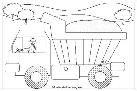 coloring page of dump truck dump truck coloring pages bestofcoloring com
