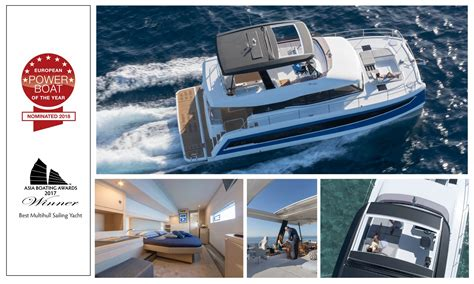 motorboat of the year 2018 le motor yacht my 44 nomin 233 aux 171 european power boat of