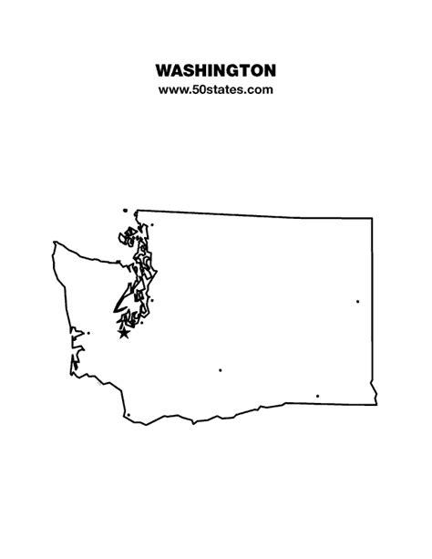 Blank Outline Map Of Washington State by Washington Map