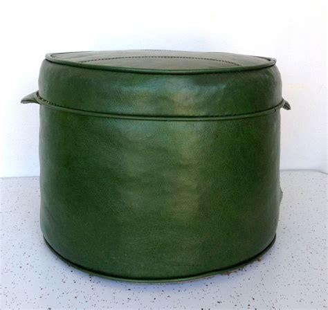 vintage mid century danish modern  hassock green