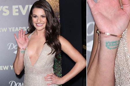 lea michele wrist tattoo 15 cool wrist back tattoos designs