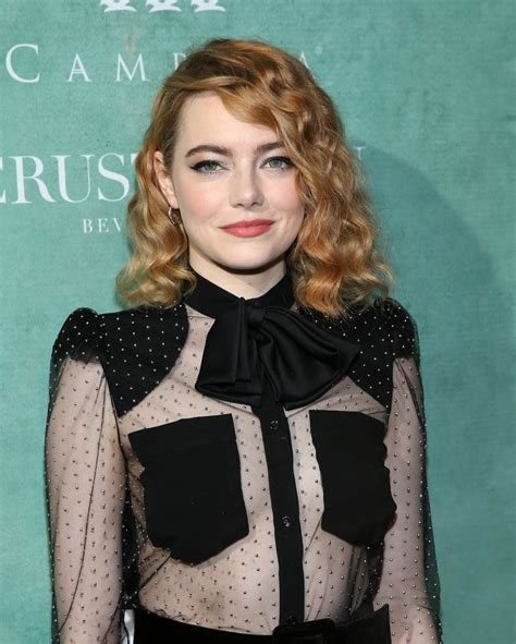 emma stone oscar nominations emma stone with permed hair at the 11th annual celebration