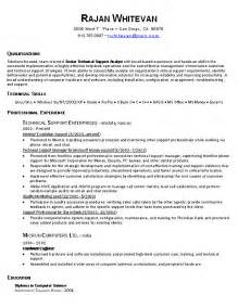 Resume Exle It by Resume Cover Letter Exles