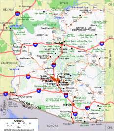arizona map arizona geographical facts