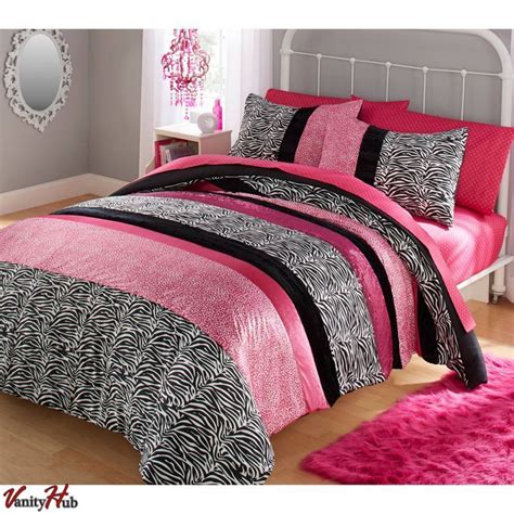 girls queen size bed girls pink comforter set queen full size bedding reversible comforters bedroom ebay