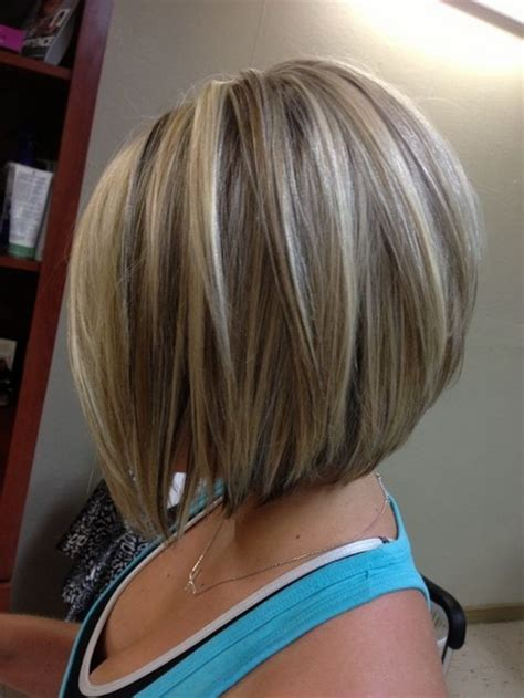 medium length stacked bob hairstyles medium length stacked haircuts
