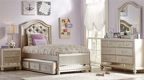 teenager bedroom sets sofia vergara petit paris chagne 6 pc twin panel