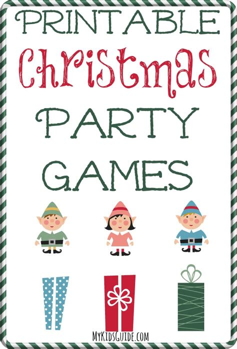 printable games for christmas party printable christmas party games for kids my kids guide