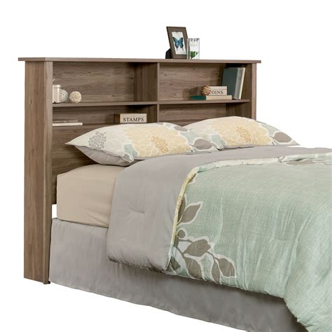 sauder headboard queen sauder county line full queen bookcase headboard
