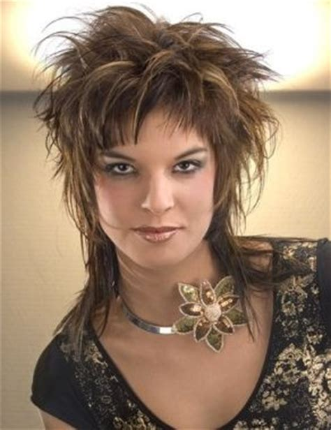 messy medium shaggy hairstyles for women medium brown straight spikey messy rock chick womens