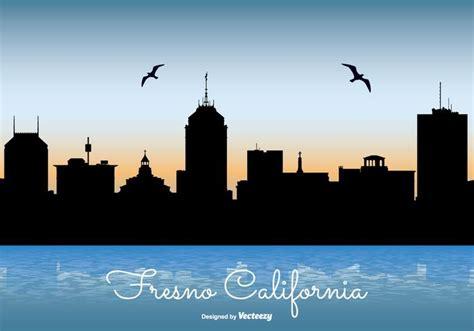 city lights fresno ca fresno california skyline illustration download free