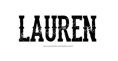 lauren name tattoo designs