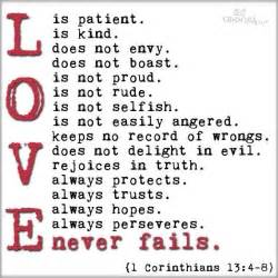 Love is patient love is kind current inspiration