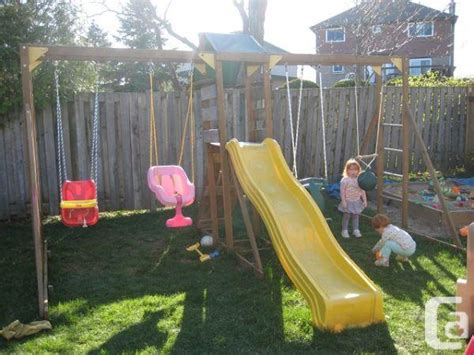 swing set toronto large wooden swing set burlington for sale in toronto