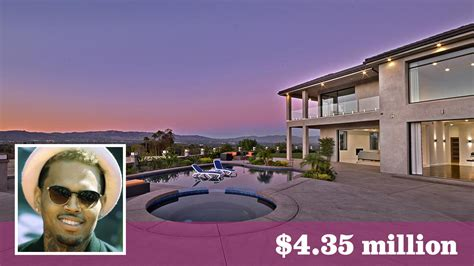 singer chris brown s new place in tarzana has 16 security