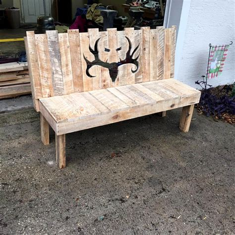 wooden pallet bench diy wooden pallet bench with artful backrest 99 pallets