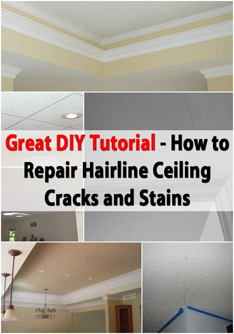Ceiling Paint To Cover Cracks by Great Diy Tutorial For Repairing Hairline Ceiling Cracks