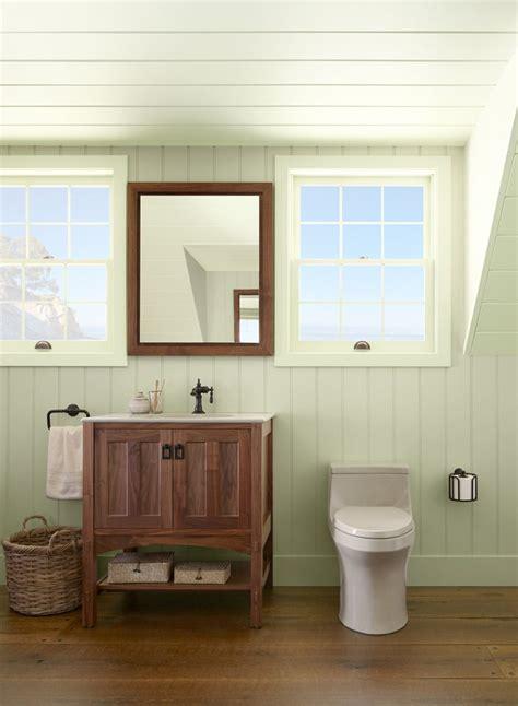 Tranquil Bathroom Ideas by Ceiling Detail For Walk Up Attic Green Bathroom Ideas