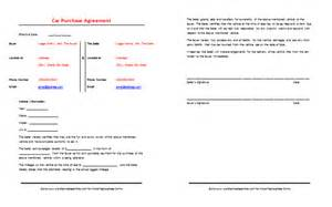 car purchase contract template 169 printabledocs net