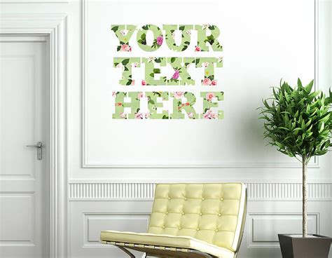personalised wall stickers uk personalised floral typography wall sticker contemporary wall stickers