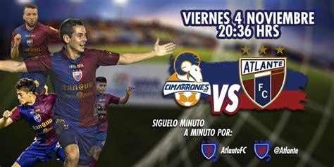 resultado atlante zacatepec en ascenso mx 2016 4 1 cimarrones vs atlante en vivo telemax ascenso mx 2016