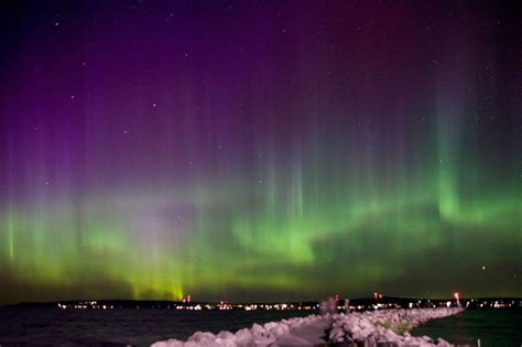 northern lights vacations michigan michigan northern lights pictures to pin on