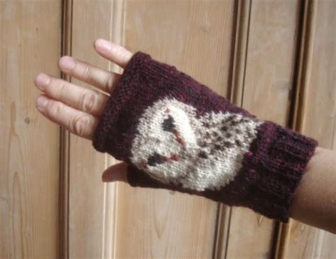 barn owl face fingerless mitts gloves by twistedclassics you have to see owl face fingerless mitts by twistedclassics