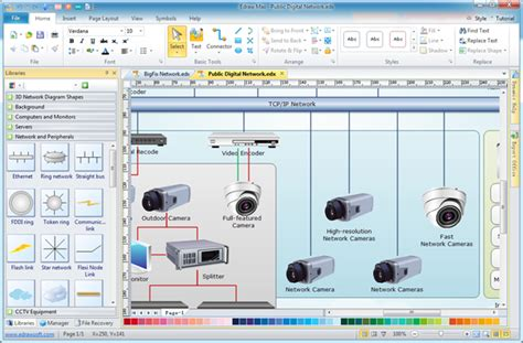 network layout design software edraw network diagram software