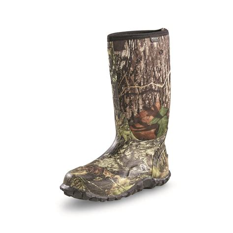 rubber boots hunting bogs men s classic high mossy oak rubber hunting boots