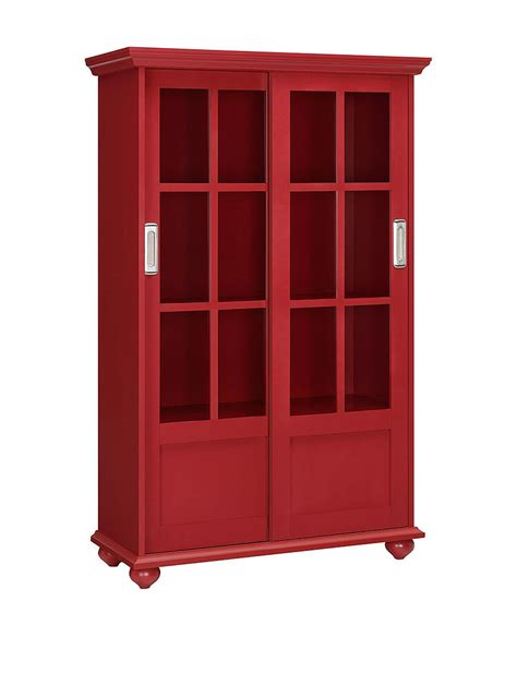 Altra Bookcase With Sliding Glass Doors Altra Arron Bookcase With Sliding Glass Doors Stage Stores