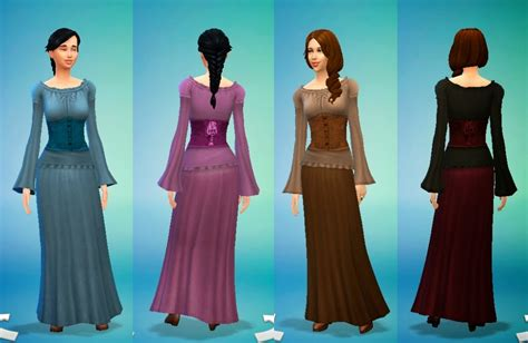 medieval sims 4 my sims 4 blog medieval dresses for teen elder females