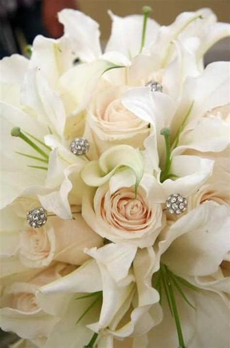 Wedding Flower Hair Clip Aksesoris Rambut Bunga Mawar Cantik bouquet flower white roses with casablanca lilies 2040028 weddbook