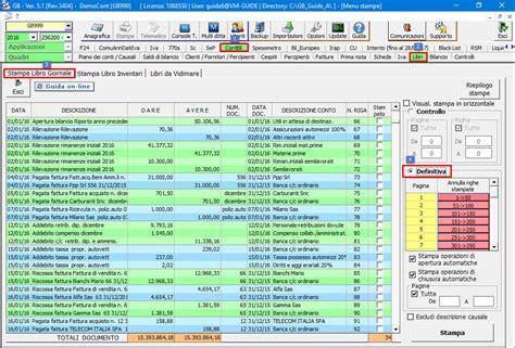 libro giornale sezionale sta registri conservazione sostitutiva software