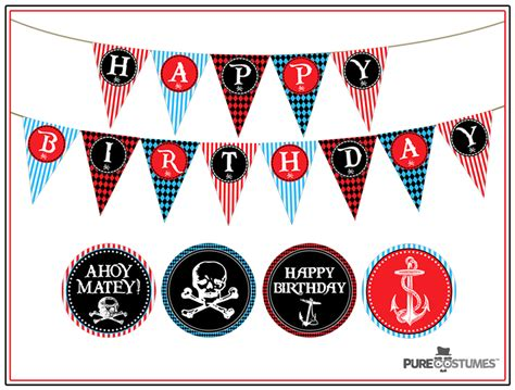printable pirate birthday decorations free pirate party printables
